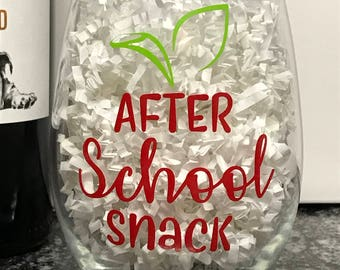 Teacher Wine Glass Gift