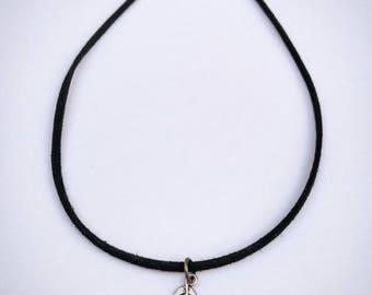Handmade suede necklace