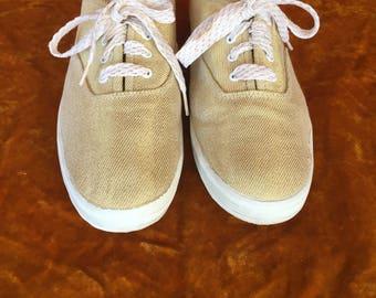 Vintage 1990s Gold Sparkle LA Gear Paula Abdul Tennis Shoes