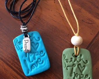 Essential Oils Clay Diffuser Pendant Necklace