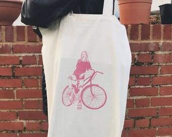 Bike Print / Illustrated Tote Bag