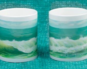 Green Wave Mug - Half Moon Bay