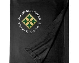 4th Infantry Division Embroidered Blanket-4040