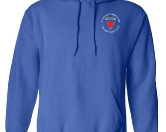 6th Infantry Division (Airborne) Embroidered Hooded Sweatshirt-7541