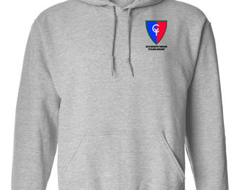 38th Infantry Division Embroidered Hooded Sweatshirt-7499