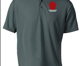 28th Infantry Division -Embroidered Moisture Wick Polo Shirt -7478