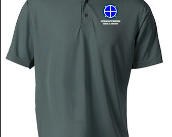 35th Infantry Division Embroidered Moisture Wick Polo Shirt -8691