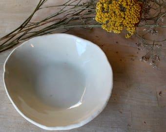 Handmade Ceramic Bowl With Clear Glaze Lining
