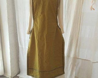 Uberkleid, green and gold, Middle Ages, magic dress...