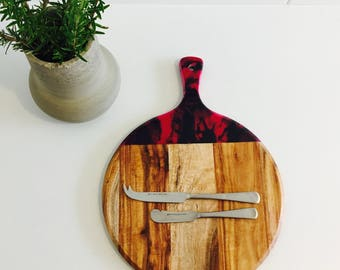 Resin serving board