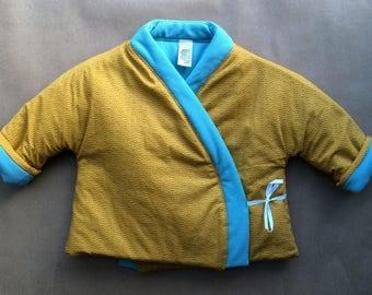 Padded baby kimono, diaper jacket for babies