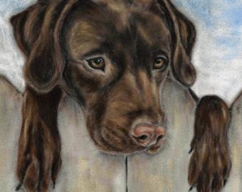 Labrador Wall Art - Dog Gift - Chocolate Labrador Print - Labrador Print -  Dog Print - Labrador Picture - Dog Picture - Dog Wall Art