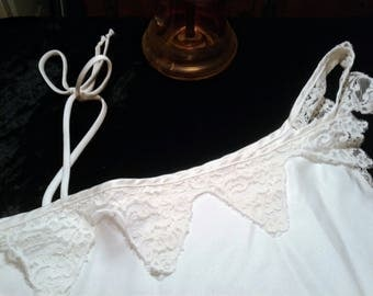 Vintage Valentine Negligee White International Boutique by Undercover Wear  for the Bride
