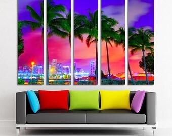 Miami art Miami canvas Miami photo Miami print Miami wall art Miami poster Miami decor South Florida art South Florida canvas South Florida