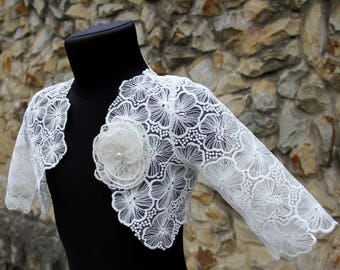 Bolero for girls, lace bolero girl, lace girl cape, lace girl capelet, lace girls shrug, lace blouse for girls, lace topper, various designs