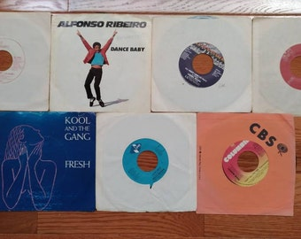 Vintage 45 RPM Vinyl Record Lot---7 R&B Singles (Lot #2)