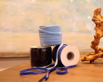 Special Order Wholesale Velveteen Ribbon Blue Collection / Pre-Order Rolls / Green Collection / ER-POBC-2