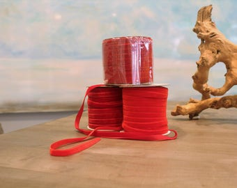 Special Order Wholesale Velveteen Ribbon Red Collection / Pre-Order Rolls / Red Collection / ER-PORC-