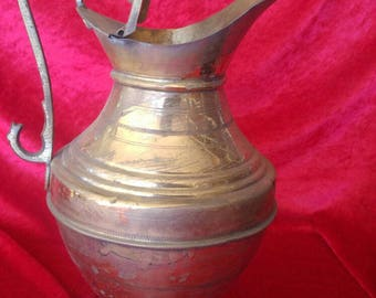 Original Vintage Style Shiny Brass Pitcher #756
