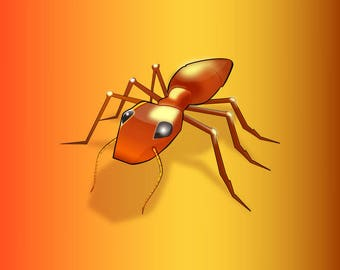 Cola Ant - Vector Art PDF - A-Size
