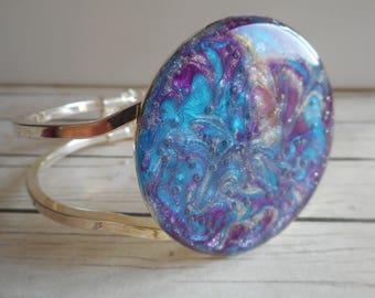 Blue purple round bracelet