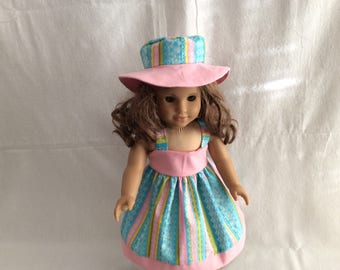 "American Girl Doll  Dress, Doll Dress, 18"" Doll Dress, AG Sundress,Summer Outfit,"