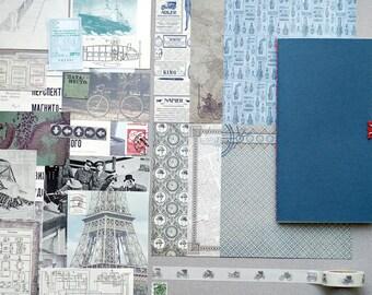 Junk journal starter kit, diy art journal kit, trevellers journal pack, mixed new and vintage ephemera pack, junk journal paper set