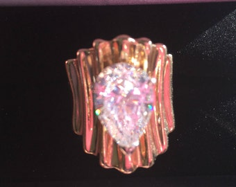 5 Carat Pear Shape 14K Diamond Ring