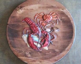 Seafood wall decor, Lobster, Crab