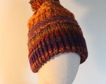 Woolen hat with pompon Fall