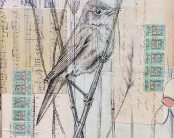 The singing reed warbler