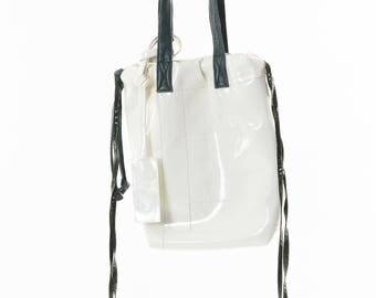 White&green handbag