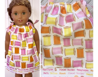 "18"" Doll Clothes/Doll Pillowcase Dress/American Girl Dress/Sewing Hobby"