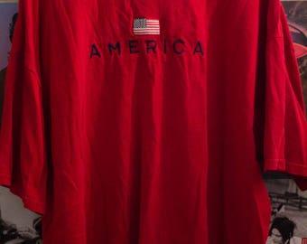 America T-Shirt. Vintage. 1990s