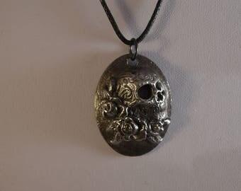 Rose Skull Pendant