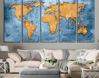Travel World map Canvas wall art world map canvas Canvas World map Wall Art Canvas Print Wall decor Art Christmas gift Travel world map