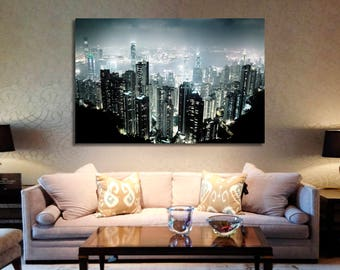 Hong Kong Canvas Wall Art Hong Kong Wall Decoration Hong Kong Canvas Wall Art Hong Kong Extra Large Canvas Wall Art Wall Decor Hong Kong Art