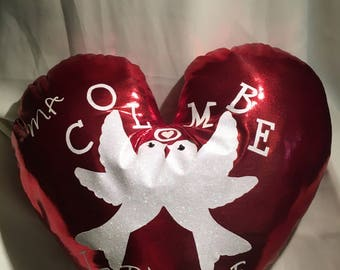 Heart for Valentine's day pillow