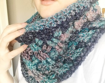 Crochet Cowl, Over sized and extra warm