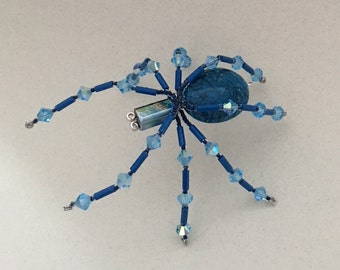 Beaded Spider - Blue