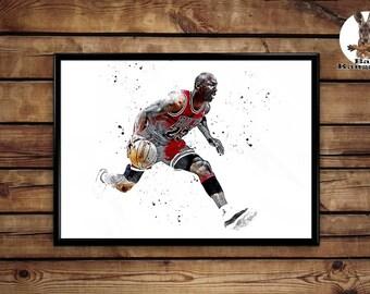 Michael Jordan print wall art home decor poster