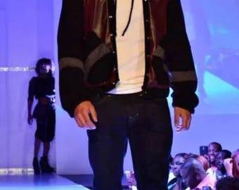 Men's Hooded Varsity Jacket