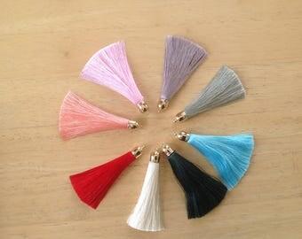 "3"" quality tassels, tassel for keychain, tassels for jewelry, jewelry tassels, tassels bracelet, tassels with caps, tassels for malas"