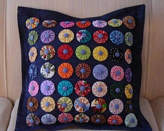 Hand made made in Italy handmade pillow 49 flowers in 3d original gift