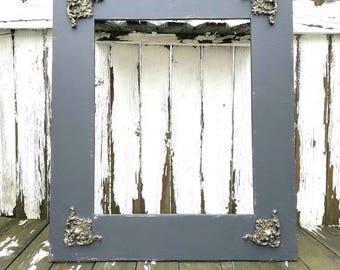 PICTURE FRAME | Open Frame | Shabby Chic Frame | Ornate Frame | Wedding Frame | Large Wood Frame | Wedding Decor | Vintage Frame |Distressed