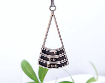 Sterling Silver Pendant Kinetic Pendant Necklace Teardrop Pendant Triangle Pendant Gifts for Her Gift Ideas Handmade Pendant Silver Necklace