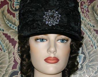 Regency Hat 1812 Shako Hat - First Lady Eliza - Women's Hat - One of a Kind - Small & Elegant Hat - Size 6 3/4