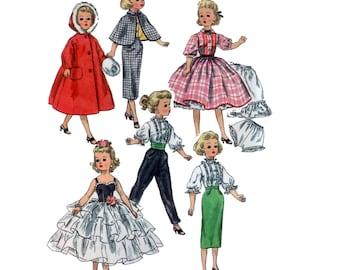 23 inch uncut Doll Clothes pattern Cissy Sweet Sue Sophisticate Revlon Dollikin Dolls Doll Dress pattern vintage Simplicity 2293