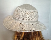 Summer hat womens hat linen cotton hat lace hats for women sun hat
