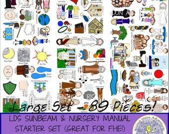LDS Starter Set DOWNLOAD for Sunbeam Manual and Nursery Manual also Great for Family Home Evening